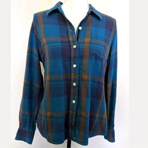 LUCKY BRAND Plaid Button Down Light Weight Flannel